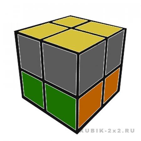иллюстрация - как собрать кубик Рубика 2х2 облеченная инструкция