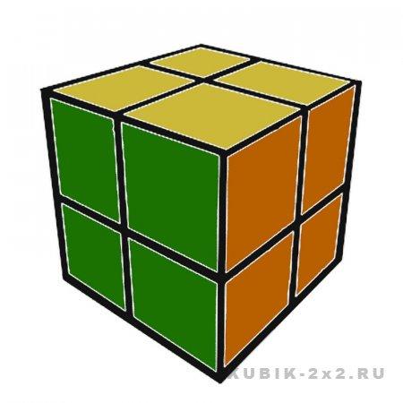 иллюстрация - как собрать кубик Рубика 2х2 легкая инструкция
